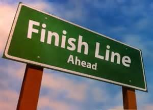 finish line ahead sign
