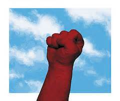 shake fist at God
