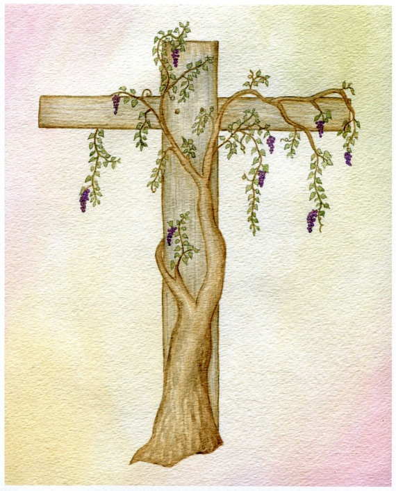 cross and grapevine