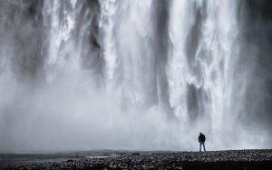 106038__waterfall-man-rocks-water-monochrome-black-and-white_p
